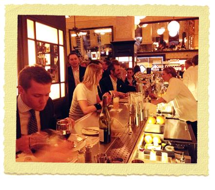 על הבר בבלת'זר מסעדה בלונדון