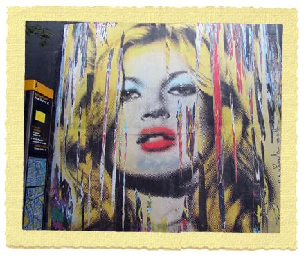 Mr Brainwash עושה את קייט מוס - אומנות רחוב בהולבורן