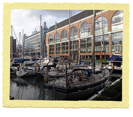 רציפים סירות בלונדון