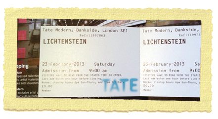 תערוכה בטייט מודרן בלונדון רוי ליכטנשטיין
