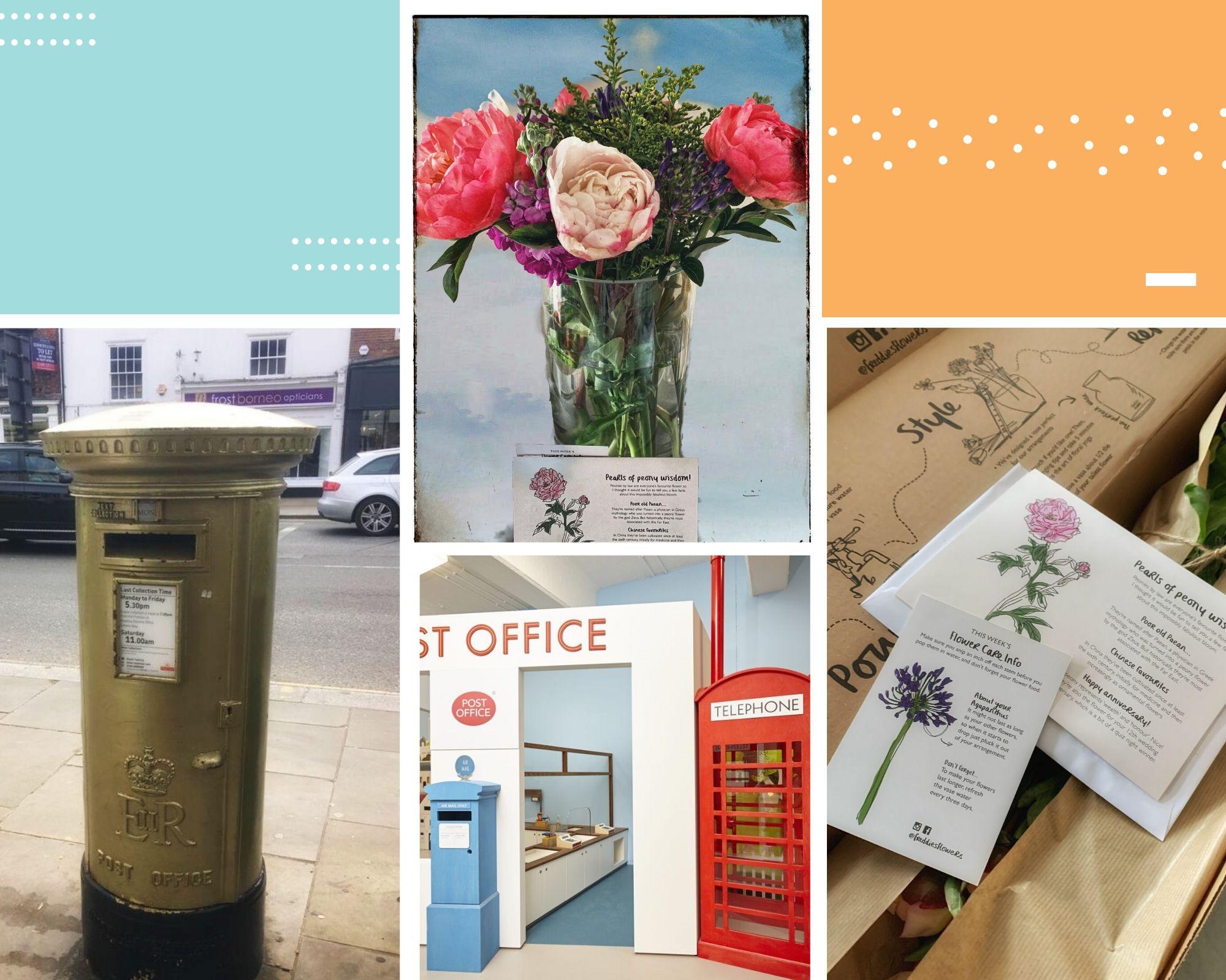 תיבה מזהב, מוזיאון הדואר ופרדי - שירות הפרחים